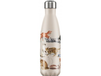 Chilly's Bottle Emma Bridgewater Cat 500ml Stainless Steel