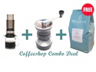 GS011 GIFT SET COMBO DEAL Hario Grinder - Aeropress - Free Coffee