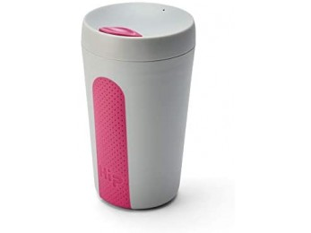 Hip Products 12oz coffee Cup Stone & hot Pink