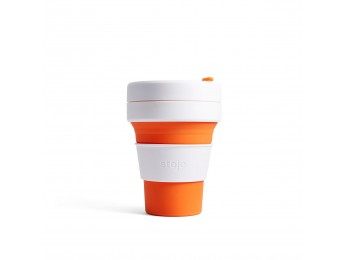 STOJO POCKET CUP 12OZ Orange