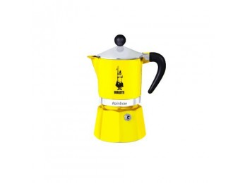 Bialetti Rainbow 3 cup Moka Pot Yellow
