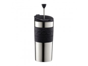 Bodum TRAVEL PRESS Vacuum  stainless steel,12 oz Black