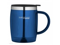 Thermos Thermocafe 450 ml Plastic and Stainless Steel Desk/Travel Mug Navy