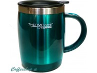 Thermos Thermocafe 450 ml Plastic and Stainless Steel Desk Mug Lagon Blue