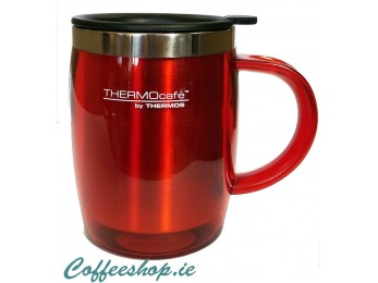 Thermos Thermocafe 450 ml Plastic and Stainless Steel Desk Mug Red