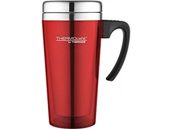 THERMOS THERMOCAFÉ SOFT TOUCH TRAVEL MUG RED 0.4L
