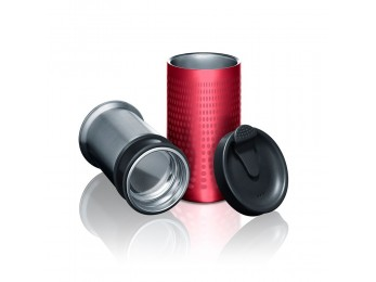 PRESSE BY BOBBLE RED STAINLESS STEEL