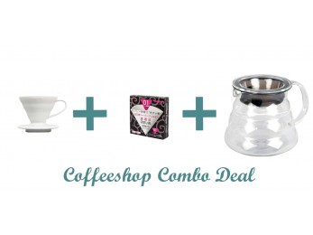 GS005 Gift Set combo Deal -Hario V60 01 - V60 Range Server 360ml