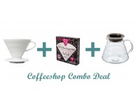GS007 Gift Set Combo Deal - Hario V60 02 White + Hario V60 Range + Hario V60 filter papers