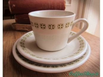 Duraline Hotel Ware Co. Ltd, cup, saucer and side plate Vintage Set (16 piece)