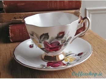 "Salisbury Fine Bone China ""Summertime"" Cup & Saucer"